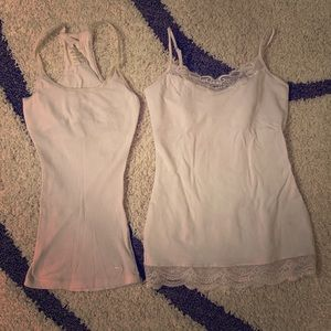 Lot White Tank Tops Cami Abercrombie Express
